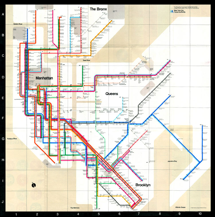1980 Nyc Subway Map.Massimo Vignelli Design Is History